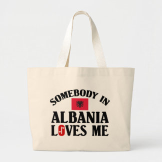 Somebody In Albania Large Tote Bag