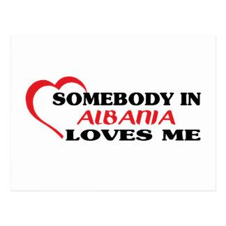 Somebody in Albania Loves Me Postcard
