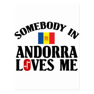 Somebody In Andorra Postcard