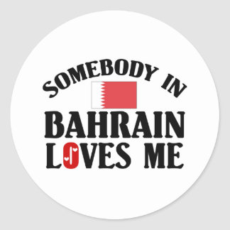 Somebody In Bahrain Loves Me Round Stickers
