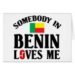 Somebody In Benin Greeting Card
