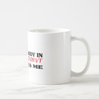 Somebody in Burlington loves me t shirt Classic White Coffee Mug