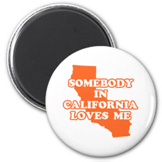 Somebody In California Loves Me 2 Inch Round Magnet