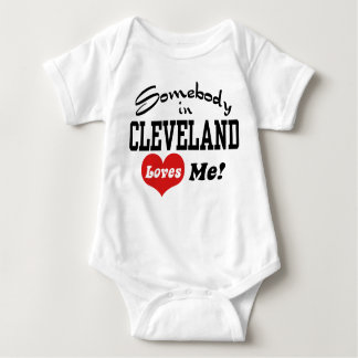 Somebody In Cleveland Loves Me Baby Bodysuit