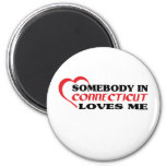 Somebody in Connecticut Loves Me shirts Fridge Magnets