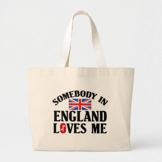 Somebody In England Loves Me Large Tote Bag