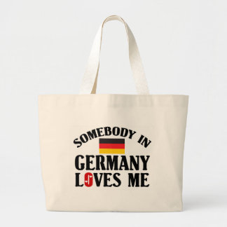 Somebody In Germany Large Tote Bag