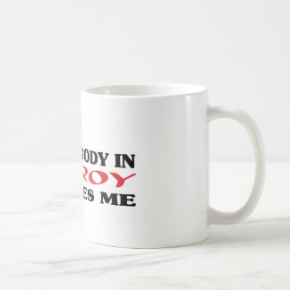 Somebody in Gilroy loves me t shirt Classic White Coffee Mug