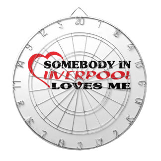 Somebody In Liverpool Loves me Dartboard With Darts