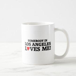 Somebody in Los Angeles loves me Coffee Mug