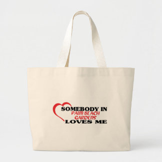 Somebody in   loves me t shirt canvas bag