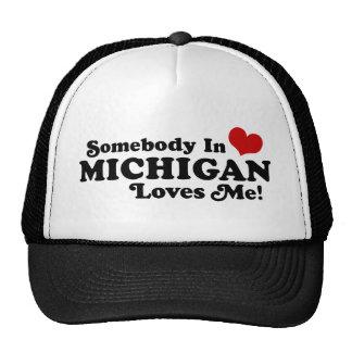 Somebody In Michigan Loves Me Trucker Hat