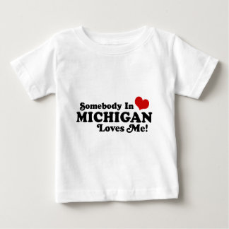 Somebody In Michigan Loves Me Tshirt