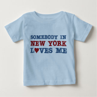 Somebody in New York Loves Me Baby T-Shirt