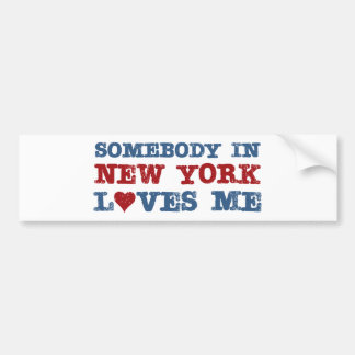 Somebody in New York Loves Me Bumper Stickers