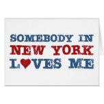 Somebody in New York Loves Me Cards