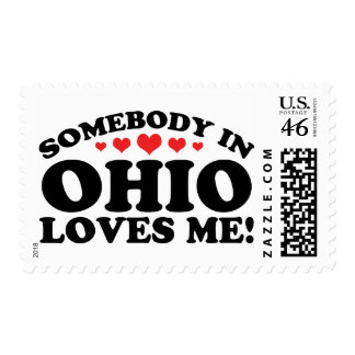 Somebody In Ohio Loves Me Postage Stamp