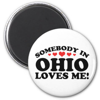 Somebody In Ohio Loves Me Refrigerator Magnet