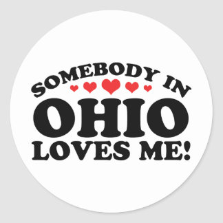 Somebody In Ohio Loves Me Stickers