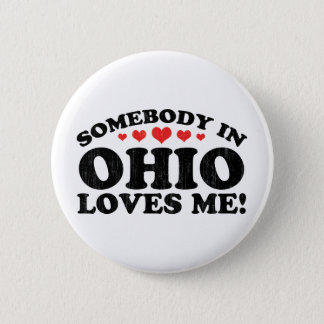 Somebody In Ohio Vintage Button