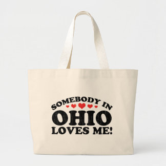 Somebody In Ohio Vintage Canvas Bag