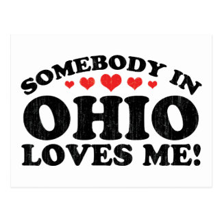 Somebody In Ohio Vintage Post Card