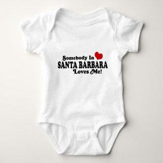 Somebody In Santa Barbara Loves Me Baby Bodysuit