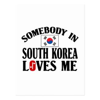 Somebody In South Korea Loves Me Postcard