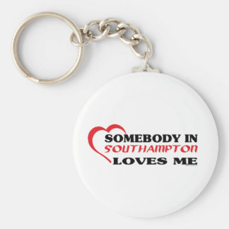 Somebody In Southampton Loves me Keychain