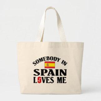 Somebody In Spain Loves Me Large Tote Bag