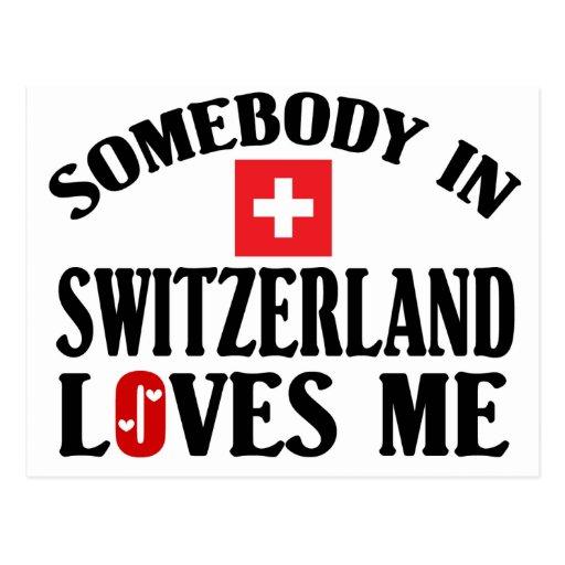 Somebody In Switzerland Postcard