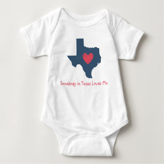 Somebody in Texas Loves Me Baby Bodysuit