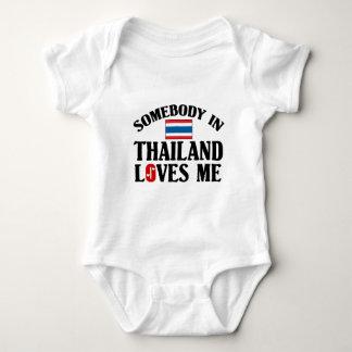 Somebody In Thailand Loves Me Baby Bodysuit