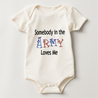 Somebody in the Army Loves Me Baby Bodysuit