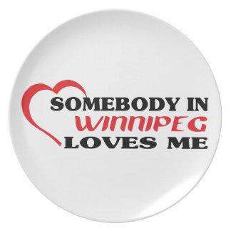 Somebody in Winnipeg loves me Plate
