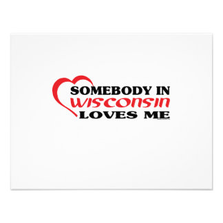 Somebody in Wisconsin Loves Me shirts Invitation