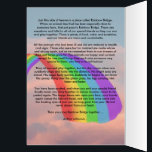 """Somebody is Waiting for Me at Rainbow Bridge Card<br><div class=""""desc"""">Show that you care about that pet lover that just lost their beloved pet with this Somebody is Waiting for Me at Rainbow Bridge Sympathy Card. Most people don&#39;t understand how the loss of a pet can be very devastating to a person. If they were close to their pet, they...</div>"""
