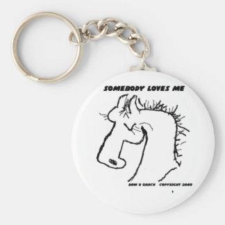 Somebody Loves Me Cartoon Horse Keychain