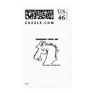 Somebody Loves Me Cartoon Horse Stamps