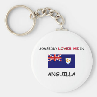 Somebody Loves Me In ANGUILLA Keychain
