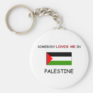 Somebody Loves Me In PALESTINE Basic Round Button Keychain