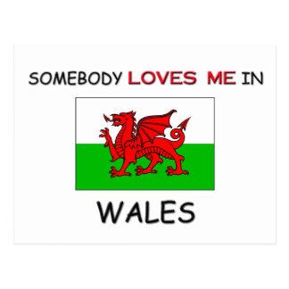 Somebody Loves Me In WALES Postcard