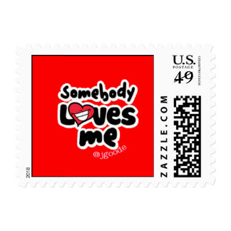 Somebody Loves Me Stamp