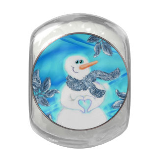 Somebody Loves You Emotional Snowman Candy Tin