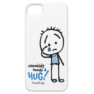 Somebody needs a HUG! Teary Ted cartoon stick man iPhone SE/5/5s Case