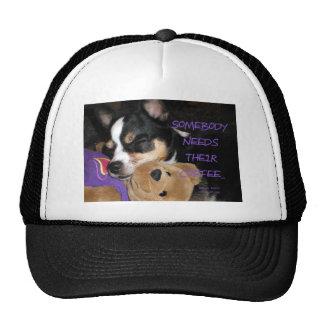 Somebody Needs Coffee Chihuahua Dog Trucker Hat