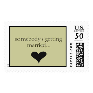 somebody's getting married... postage
