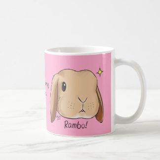 Somebunny le ama rosa de la taza