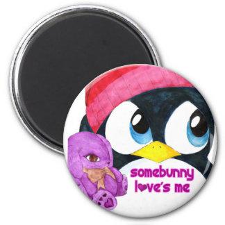Somebunny Loves Me 2 Inch Round Magnet