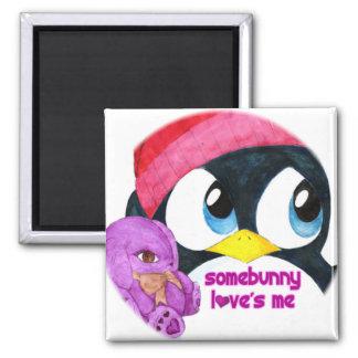 Somebunny Loves Me 2 Inch Square Magnet
